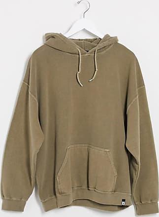 Reclaimed Vintage overdye hoodie in khaki-Pink