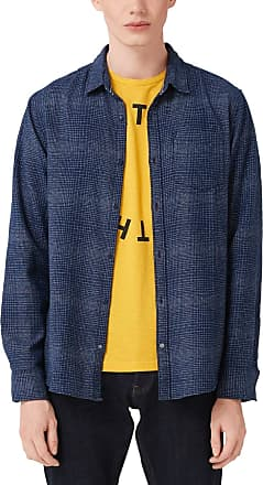 Q/S designed by Mens 40.910.21.8219 Casual Shirt, Blue (Blue Depth 58n0), Xx-Large