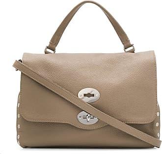 Zanellato Postina studded tote bag - Brown