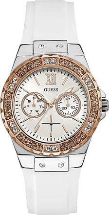 Acotis Limited Guess Watches Guess Ladies Silver Rose Gold Watch Crystals W1053L2