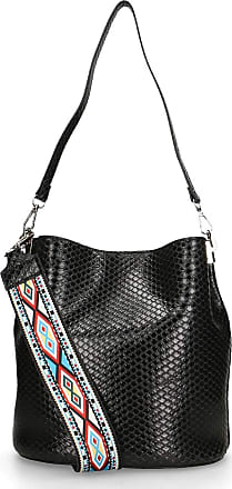 Chicca Borse Shoulder Bag in genuine leather made in Italy - 27x24x16 Cm