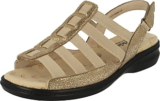 LADIES PADDERS /'LESLEY/' SPARKLE GOLD SANDALS