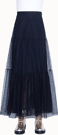 Akris Long skirt in starry tulle with elastic waistband