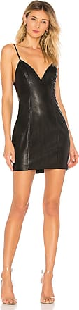 Superdown Becca Faux Leather Dress in Black