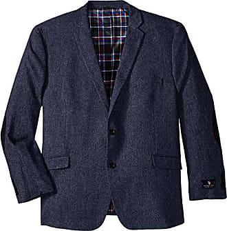 U.S.Polo Association Mens Big-Tall Wool Donegal Sport Coat, Blue, 50 Long