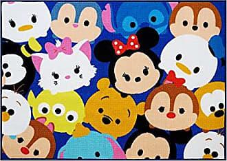 Disney Tsum Tsum Rug Collage HD Digital Kids Bedding Room Décor Wall Decals Blue Area Rugs, 40x54, Navy