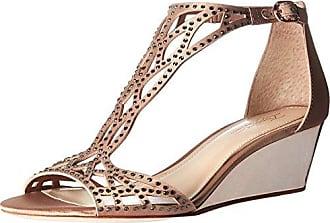 Imagine Vince Camuto Womens Jalen Wedge Sandal, Warm Taupe, 5 Medium US