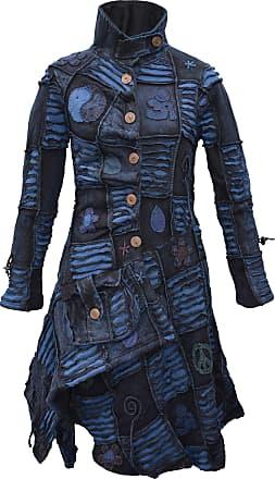 Gheri Womens Asymmetrical Boho Overcoat Turquoise Blue X-Large