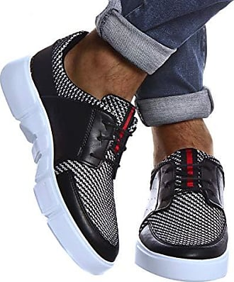 Sportlich Elegante HERREN Schuhe Sneakers Sportschuhe SCHWARZ