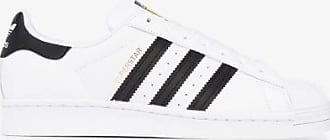 adidas Adidas Womens Black And White Superstar Leather Sneakers