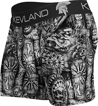 Kevland Underwear cueca boxer tatuagens kevland cinza (1, GG)