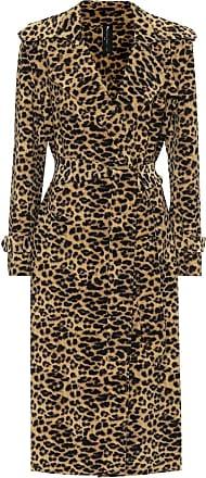 Norma Kamali Leopard-print trench coat