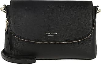 Kate Spade New York Polly Large Convertible Flap Crossbody Bag Black Umhängetasche schwarz