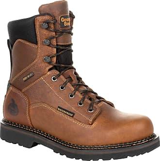 Georgia Georgia Boot Mens REvAMP Waterproof 8 Work Boots, Brown, 12D (Medium)