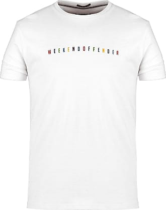 Weekend Offender Multi Colour Logo T-Shirt in White Small
