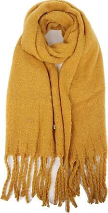 Your Dezire Winter Warm Long Tassel Scarve Large Shawl Cozy Thick Scarf Wraps (Mustard)
