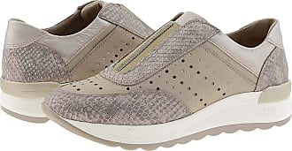 24 Horas 24 Hours 24416 Womens Leather Trainers Size: 3 Color: Beige