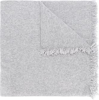 Pringle Of Scotland fringed trim lightweight scarf - Cinza
