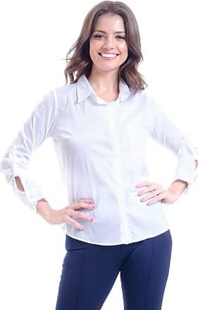 101 Resort Wear Camisa 101 Resort Wear Lisa Manga Longa Algodao Branca (P)