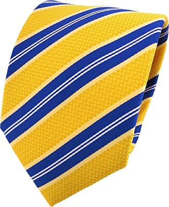 TigerTie Designer tie necktie yelloworange blue white striped