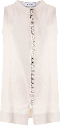 OLYMPIAH Romania button-up tank - NEUTRALS