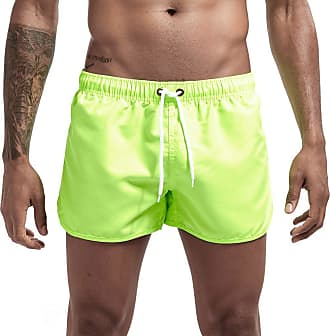 ZYUEER Fashion Mens Beach Shorts Splicing Fabric Boxer Shorts Men Summer Loose Fit Solid Mens Watershort Elasticated Waist Shorts with Drawstring Men Fast-Dr