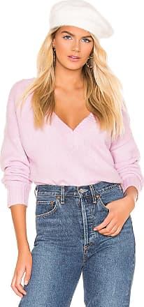 Superdown Joyce Deep V Sweater in Lavender