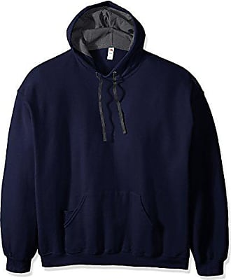 Fruit Of The Loom Mens Hooded Sweatshirt,Navy,XX-Large