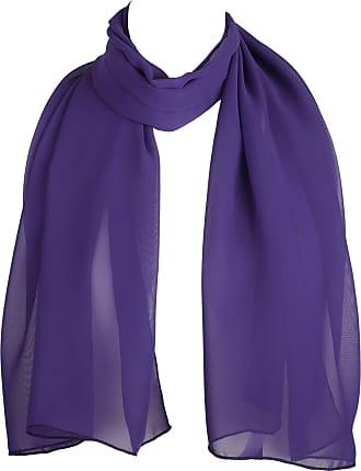 Hat To Socks HatToSocks Chiffon Scarf Sheer Wrap for Women (Purple)