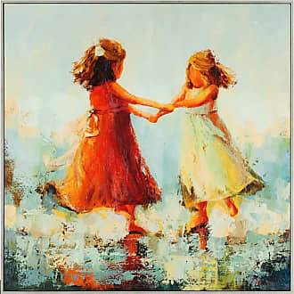 Paragon Picture Gallery Circle of Two Framed Wall Art, Girls - 7463