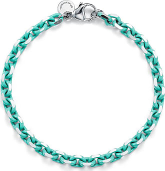 Tiffany & Co. Bracelet chain in sterling silver with Tiffany Blue enamel finish, large