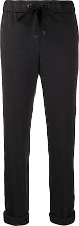 PESERICO side-stripe drawstring trousers - Preto