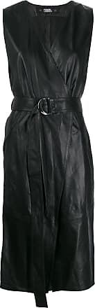 Karl Lagerfeld Vestido envelope de couro - Preto