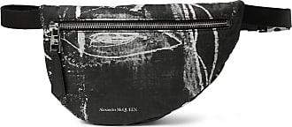Alexander McQueen Printed Nylon Belt Bag - Black