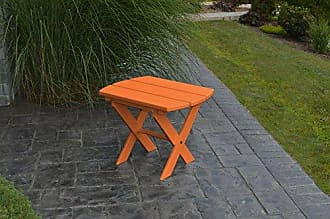 A & L Furniture A & L Furniture Poly Folding End Table, Orange