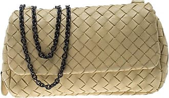 c3a93e1ad2 Bottega Veneta Beige Intrecciato Leather Expandable Chain Crossbody Bag