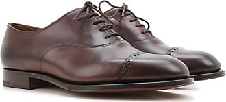 Edward Green Lace Up Shoes for Men Oxfords, Derbies and Brogues On Sale in Outlet, Ebony, Dark Oak Antique, 2017, UK 10 - 10.5