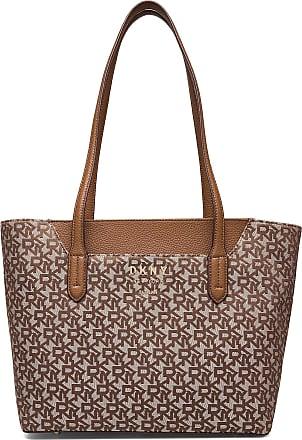 DKNY Noho-Ew Tote-Logo Bags Shoppers Fashion Shoppers Brun DKNY Bags