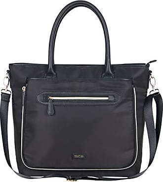 Kenneth Cole Reaction Kenneth Cole Reaction Womens Silky Polyester Top Zip 15 (RFID) Laptop Tote Black One Size