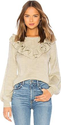 Lovers + Friends Juliet Ruffle Sweater in Sage