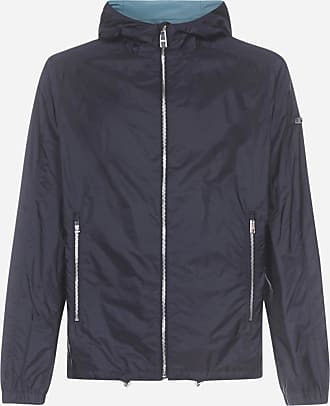 Prada Logo-plaque nylon Piuma hooded jacket - PRADA - man