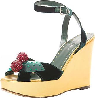 1309b1fda9ba Tom Ford Yves Saint Laurent Emerald Green Velvet Cherry Platforms
