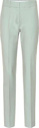 Victoria Beckham Mid-rise straight wool-blend pants