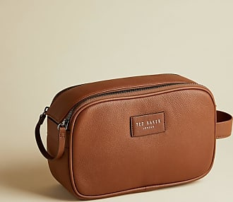 Ted Baker Leather Washbag in Tan TUPRESS, Mens Accessories