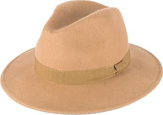 Hat To Socks Beige Wool Fedora Hat with Grosgrain Band Handmade in Italy