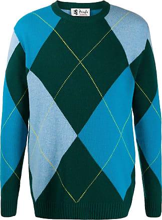 Pringle Of Scotland Suéter Reissued de tricô com padronagem de losangos - Verde