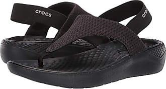 Crocs LiteRide Mesh Flip (Black/Black) Womens Sandals