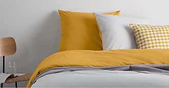 MADE.COM Solar 100 % Baumwolle Bettwaescheset (155 x 220 cm), Nebelgrau und Senfgelb