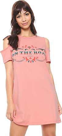 1f1257bf9 Sommer Vestido Sommer Curto Off Shoulders Rosa