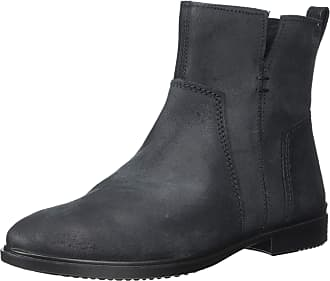 Ecco Womens Touch 15 Ankle Boot, Black Suede, 4-4.5